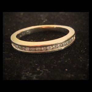 10k genuine natural diamond wedding band